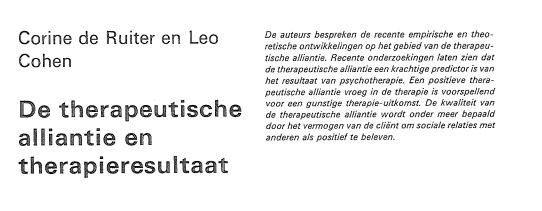 Psychotherapie artikel 1987